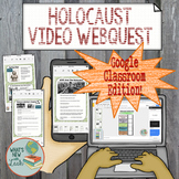 Holocaust Video Webquest for Google Classroom and One Drive
