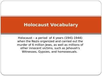 Holocaust Vocabulary Powerpoint