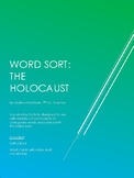 Holocaust Vocabulary Word Sort