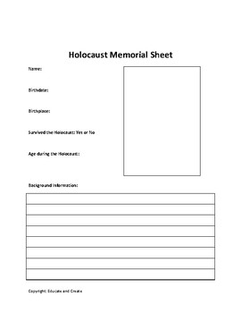 Holocaust Web Quest