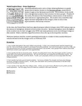 Holocaust Worksheet, Evian Conference