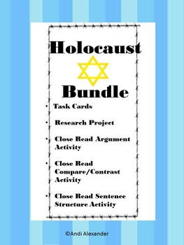 Holocaust/ World War II Unit Activities