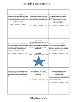 Holocaust/ World War II Unit Activities