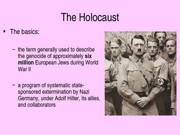 Holocaust background info powerpoint for Night 1 of 2