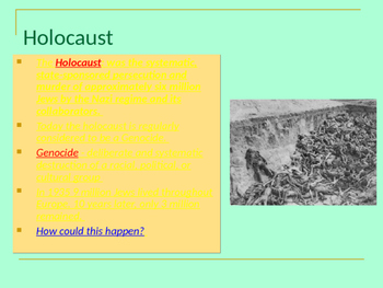 Holocaust in 7 stages