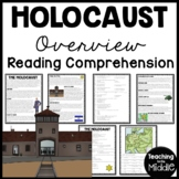Holocaust Overview Reading Comprehension Worksheet, World War II; Hitler