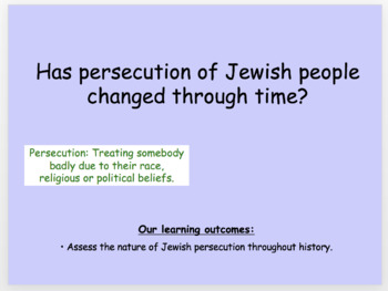 Holocaust persecution of Jews full resourced SOW
