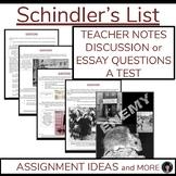 Holocaust studies/Schindler's List//WW II (test; essay writing; aligned CCSS)