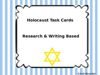 Holocaust/World War 2 Writing and Research based Task Cards