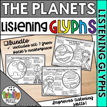 Holst's The Planets Listening Glyphs (BUNDLE)