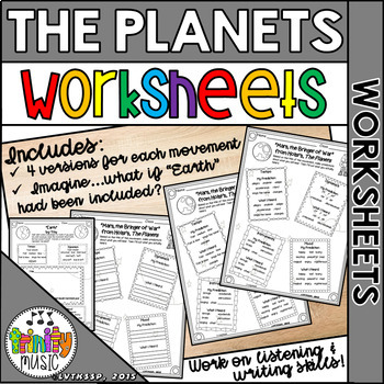 Holst's-The Planets Worksheets