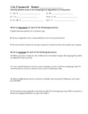 Holt Alg 1 Chapter 1 Lesson 2 CW and HW