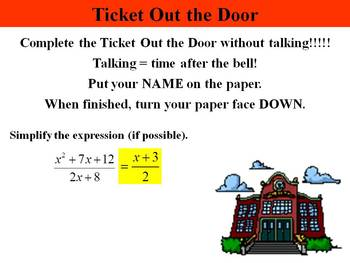 Holt Algebra 10.3B Simplifying Rational Expressions (not factored) PPT