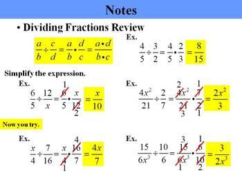 Holt Algebra 10.4B Multiplying and Dividing Rational Expressions (divide) PPT
