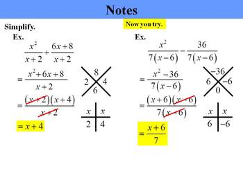 Holt Algebra 10.5A Add & Subtract Rational Expr'ns (like denoms) PPT + Worksheet