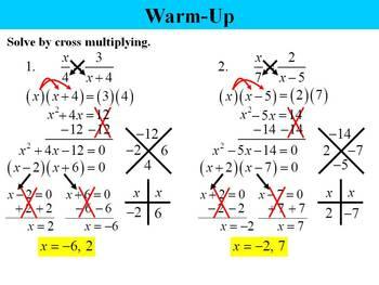 Holt Algebra 10.7B Solving Rational Equations (LCD) PPT
