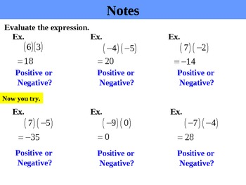 Holt Algebra 1.3 Multiplying and Dividing Real Numbers PPT