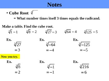 Holt Algebra 1.5 Roots and Irrational Numbers PPT