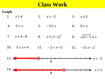 Holt Algebra 3.1 Graphing and Writing Inequalities PPT