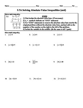 solving and graphing inequalities worksheet answer key pdf
