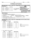 Holt Algebra 4.2 Relations and Functions Worksheet DOC & PDF