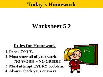 Holt Algebra 5.2 Using Intercepts PPT + Worksheet