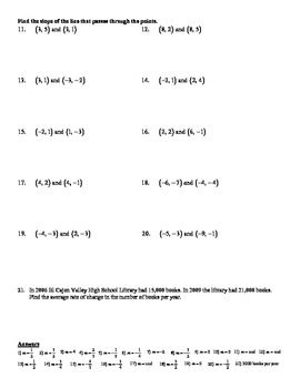 Holt Algebra 5 3b Slope Using Formula Worksheet Doc Pdf Tpt
