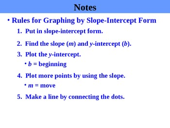 Holt Algebra 5.5B Slope-Intercept Form (y variable not isolated) PPT + Worksheet