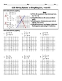 Holt Algebra 6.1B Solving Systems by Graphing (not y=mx +