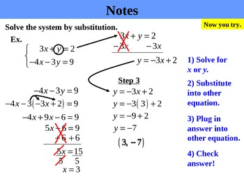 Holt Algebra 6.2B Solving Systems by Substitution (not isolated) PPT
