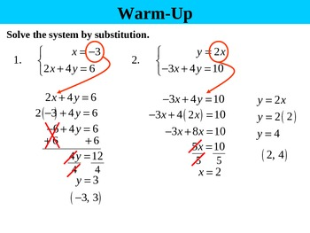 Holt Algebra 6.3A Solving Systems by Elimination (opposites) PPT