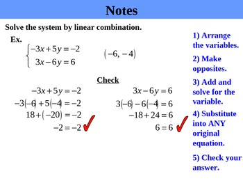 Holt Algebra 6.3A Solving Systems by Elimination (opposites) PPT + Worksheet