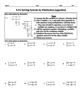 holt algebra 6 3a solving systems by elimination opposites worksheet doc pdf. Black Bedroom Furniture Sets. Home Design Ideas