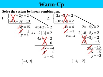 Holt Algebra 6.3B Solving Systems by Elimination (multiply) PPT