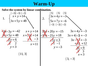 Holt Algebra 6.3D Solving Systems by Elimination (word problems) PPT