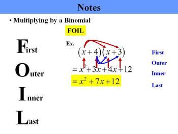 Holt Algebra 7.8 Multiplying Polynomials PPT