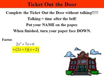 Holt Algebra 8.4 Factoring ax^2 + bx + c PPT