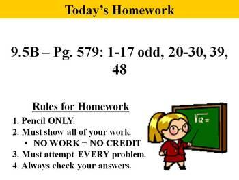 Holt Algebra 9.5B Solving Quadratic Equation by Factoring(not Standard Form) PPT