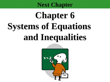 "Holt Algebra Ch. 6 ""Systems of Eq'ns & Inequalities"" PPT B"