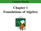 Holt Ch. 1 Foundations of Algebra Bundle (11 PPTs, 3 Tests