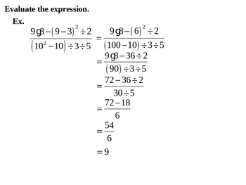 Holt Algebra Chapter 1 Review PPT + Worksheet Bundle