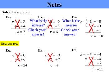 "Holt Algebra Chapter 2 ""Equations"" PPT Bundle (11 PowerPoints)"