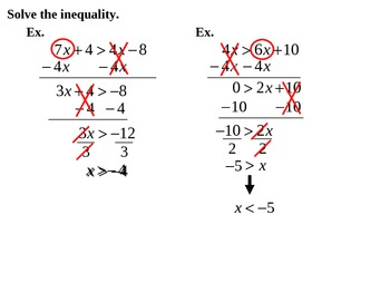 "Holt Algebra Chapter 3 ""Inequalities"" Review PowerPoint"