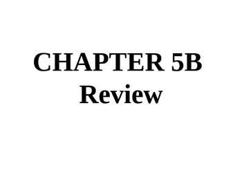 """Holt Algebra Chapter 5B """"Linear Functions"""" + Ch 4 Review P"""