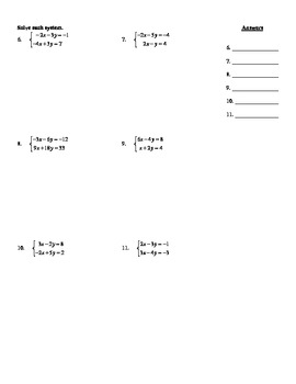"""Holt Algebra Chapter 6 """"Systems of Equations & Inequalities"""" Test(c) - DOC & PDF"""