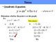 "Holt Algebra Chapter 9 ""Quadratic Functions & Equations"" Complete Chapter Bundle"