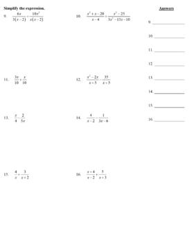 Holt Algebra Chapter 9 Worksheet Bundle (3 Tests, 2 Quizzes, 6 Worksheets)
