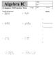 Holt Algebra Chapter 9 Worksheet Bundle (3 Tests, 2 Quizze
