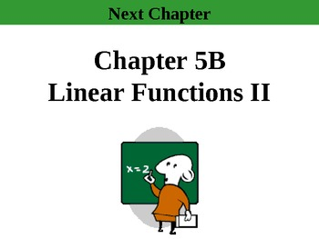 Holt Algebra Chapters 5B & 4 Complete (9 PPTs, 3 Tests, 2 Quizzes, 9 Worksheets)