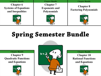 Spring Semester Deluxe Bundle (Holt Algebra Chapters 6-10) - 45+ PPTs